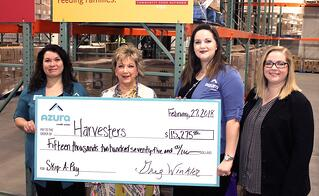 Harvesters donation photograph in their Topeka warehouse