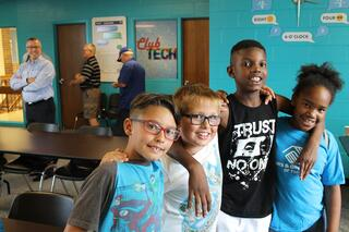 Children at the Topeka Boys and Girls Club