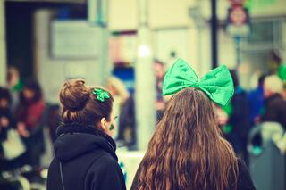 Two Girls Celebrating St. Patrick's Day