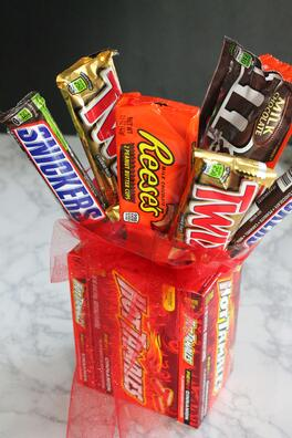 DIY Candy Bouquet for Valentine's Day