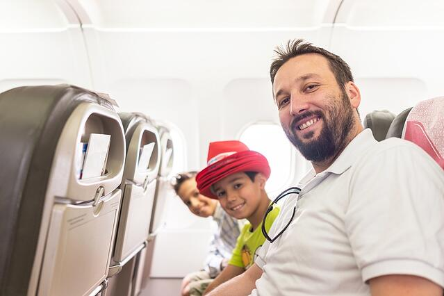 Family traveling abroad
