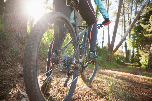 Topeka Bicyclists on Shunga Trail in Topeka