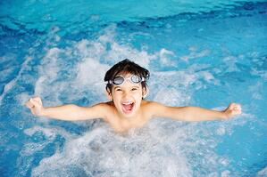 Kid in a Topeka Pool