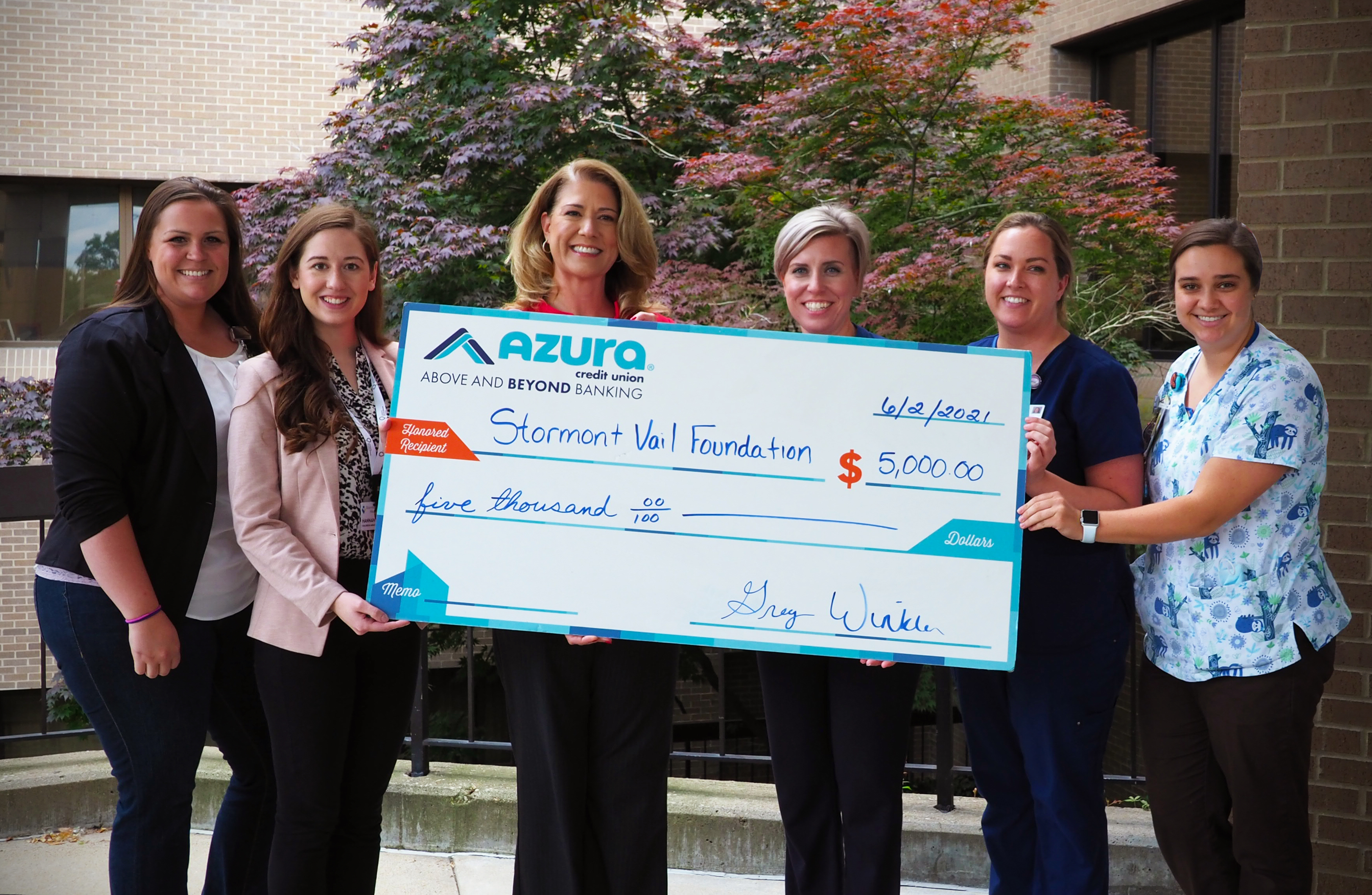 Azura Credit Union Supporting Stormont Vail Health's Child Life Program